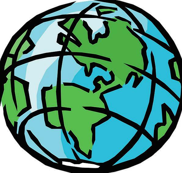 Round Globe Map.Globe Compass Earth Soil Sphere Round Map Chart Three World