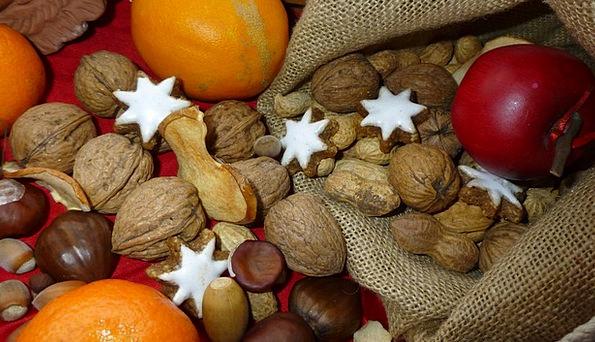 Advent Arrival Nuts Mad Apple Zimtstern Orange Bag