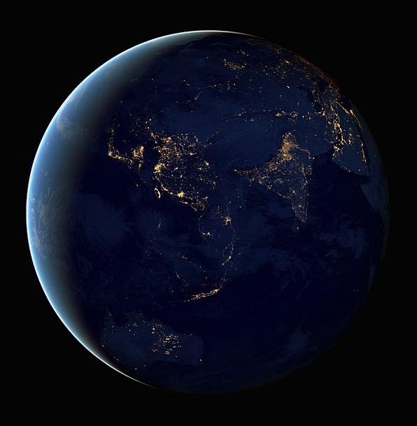Asia Sphere Cities Metropolises Globe Orb Lights I