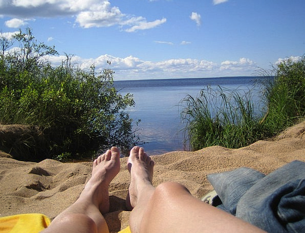 Finnish Gentleman Summer Vacation Man Sunshine Lan