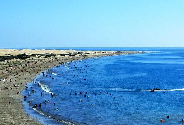 Maspalomas Vacation Seashore Travel Dunes Banks Be