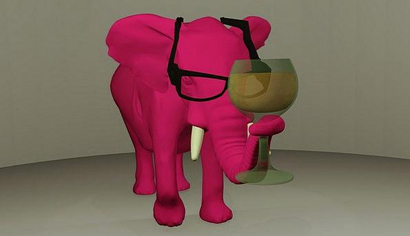 Elephant Monster Demonstrating 3D Modeling Digital
