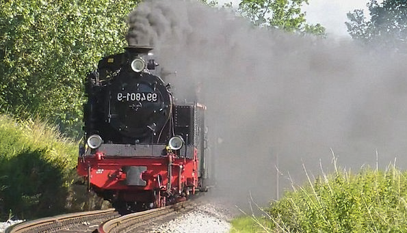 Steam Locomotive Rügen Rasender Roland Small Groun