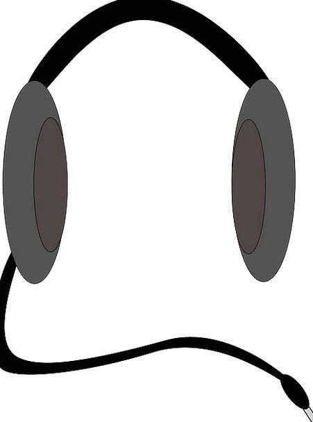 Headphone Earphone Receiver Music Melody Headset V