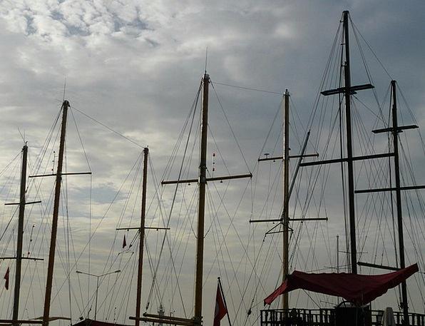 Ship Masts Poles Ship Vessel Masts Sailing Vessel