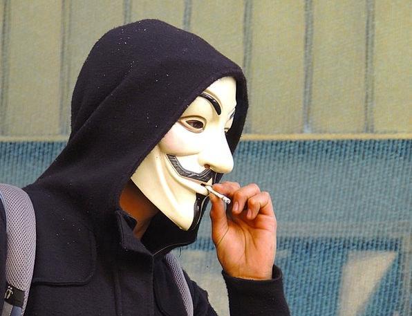 Anonymous Nameless Cover Smoking Burning Mask