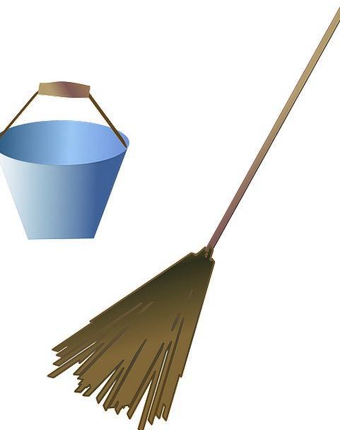 Broom Brush Pail Cleaning Bucket Sanitation Suppli
