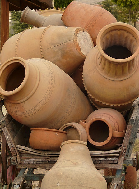 Amphora Ceramic Sound Complete Pottery Old Ancient