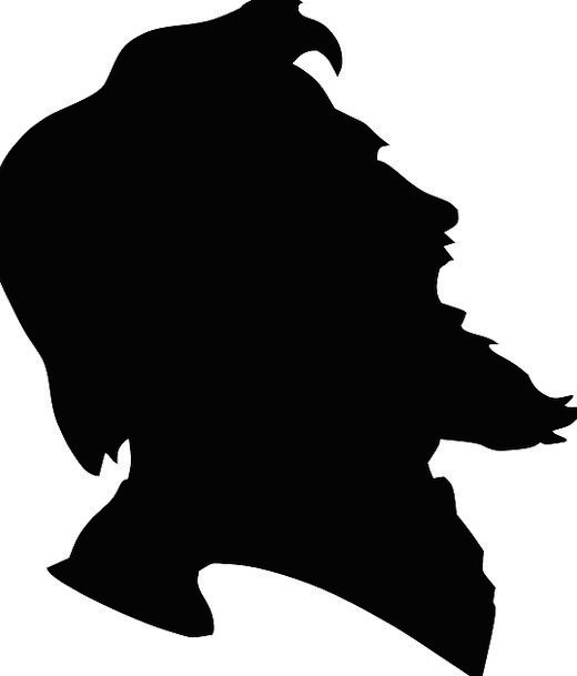 bearded man silhouette profile wwwpixsharkcom images