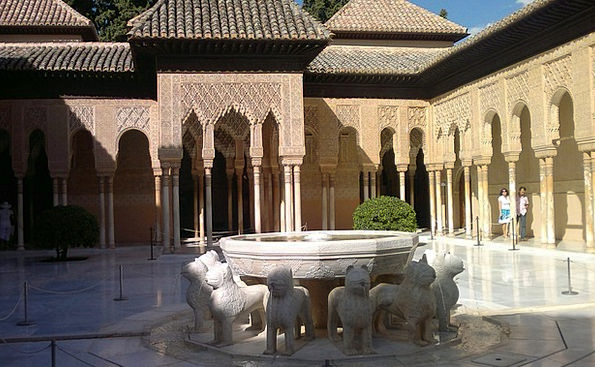 Alcazaba Andalucia Granada Fountain Of The Lions
