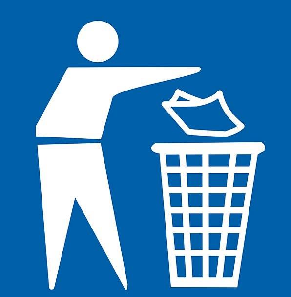 Garbage Disorder Trashcan Wastebasket Litter Free