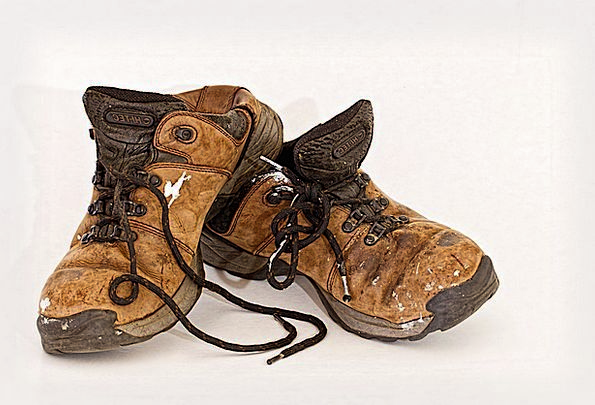 Old Shoes Footwear Labourer Rugged Used Rummage-sa