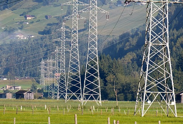 Power Line Current Highway Power Poles Electro Smo