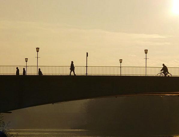 Bridge Bond Buildings Humanoid Architecture Profil