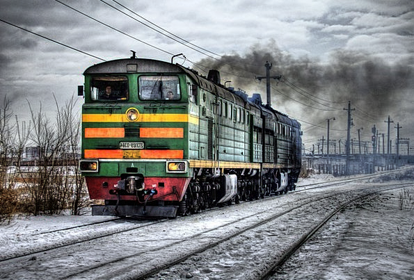 Locomotive Traffic Transportation Russia Diesel Tr
