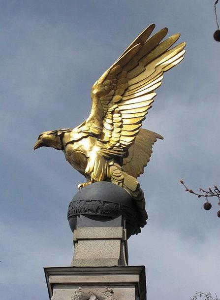 Bird Fowl Figurine Gold Gilded Statue London Engla