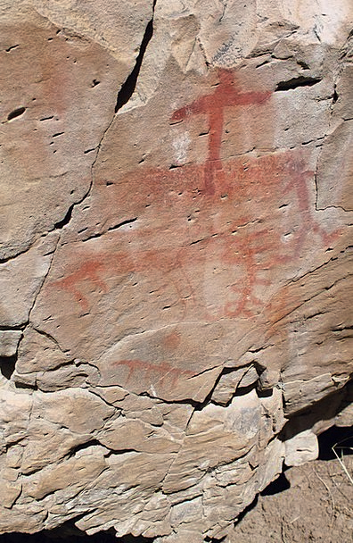 Pictograph Symbol Rock Art South Fork Indian Drawi
