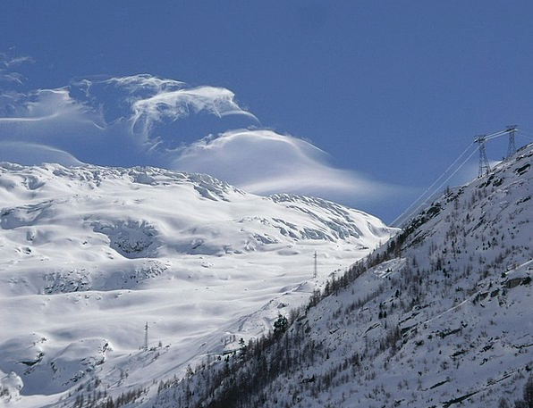 Winter Season Landscapes Vapors Nature Mountains C