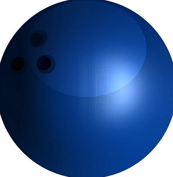 Bowling Careening Sphere Ninepin Ball Active Blue