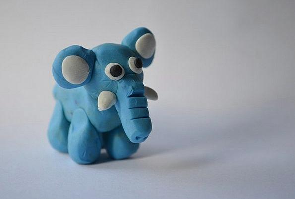 Elephant Monster Model Perfect Plasticine Animal P