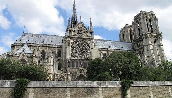 Notre Dame France Paris Gothic Church Ecclesiastic