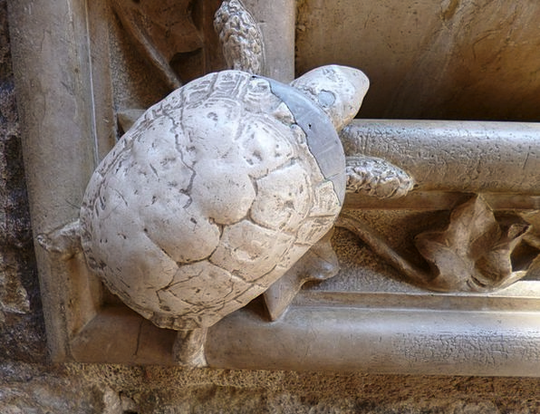 Turtle Pebble Ornament Stone Sculpture Statue Anti