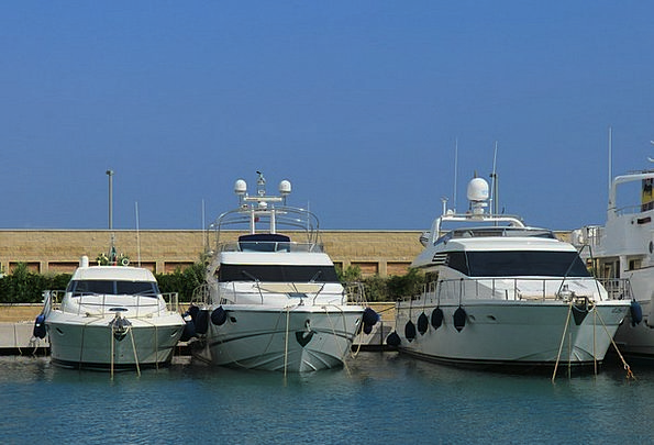 Yacht Ship Harbor Yachts Port Luxurious Boats Powe