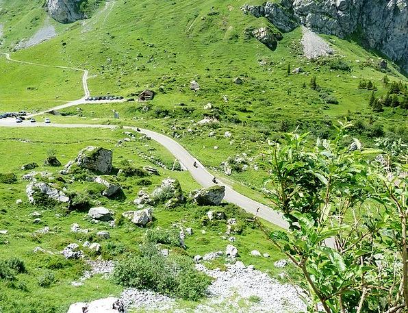 Switzerland Landscapes Motorbike Nature Summer Str