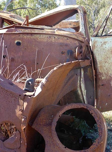 Wreck Crash Traffic Corroded Transportation Weathe