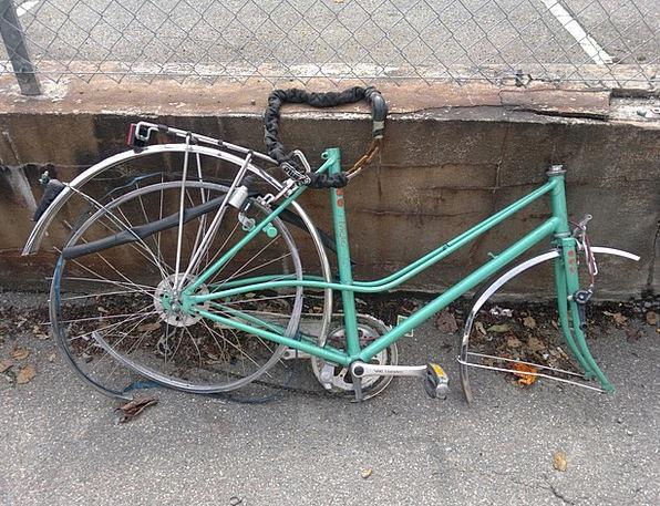 Bike Motorbike Argument Metal Scrap Scrap Stolen T