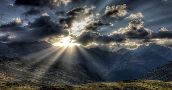 Mountain Crag Landscapes Nature Sky Blue Alps Clou