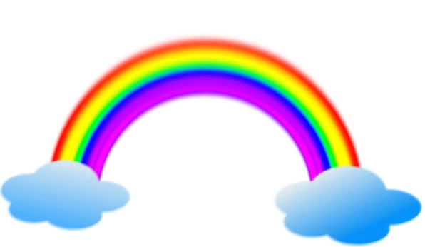 Rainbow Multicolored Vapors Weather Climate Clouds