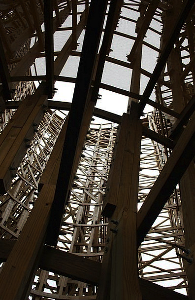 Wooden Rollercoaster Buildings Architecture Truss