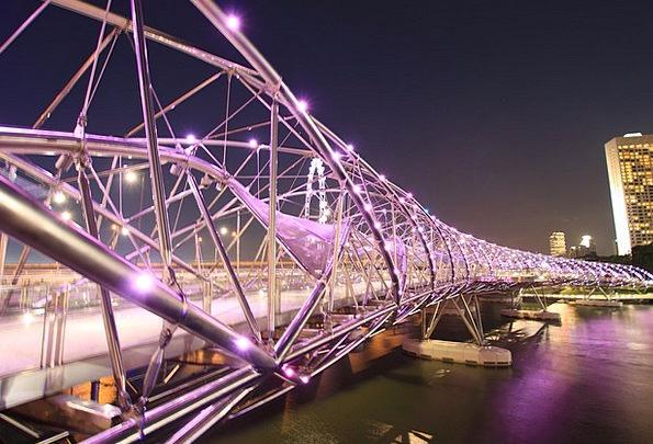 Helixbridge Buildings Bond Architecture Lights Ill