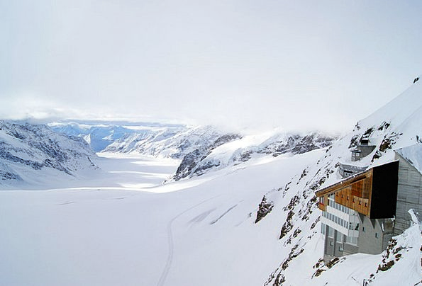 Jungfraujoch Landscapes Nature Mountains Crags Gla