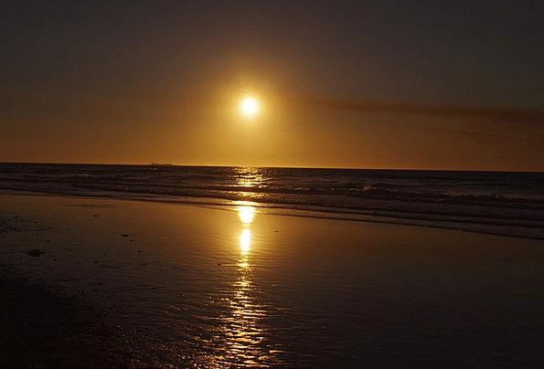 Sunset Sundown Vacation Marine Travel Sky Blue Oce