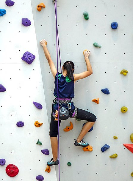 Climbing Uphill Cord Rappelling Rope Training Wall