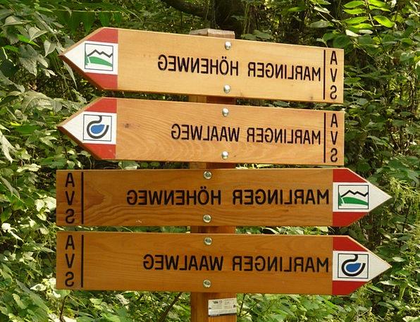 Directory Almanac Waalweg Meran Höhenweg Signpost