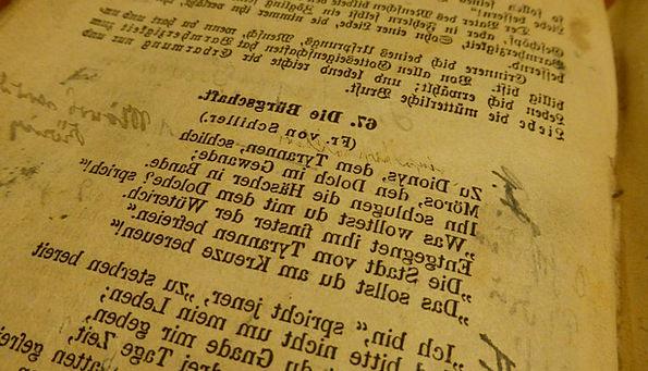Book Volume Verse Old Book Poem Friedrich Schiller
