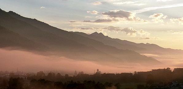 Morgenstimmung Landscapes Mist Nature Autumn Fall