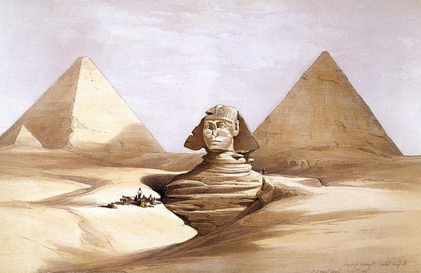 Sphinx Weltwunder Egypt 1839 Pyramids Culture Gize