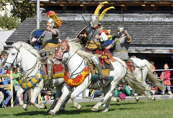 Rieter Contest Romans Fight Cavalry Mounted troops