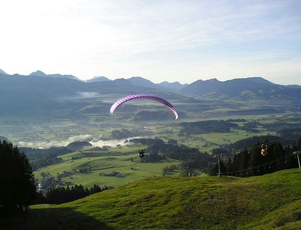 Paragliding Hover Paraglider Fly Mountains Crags F