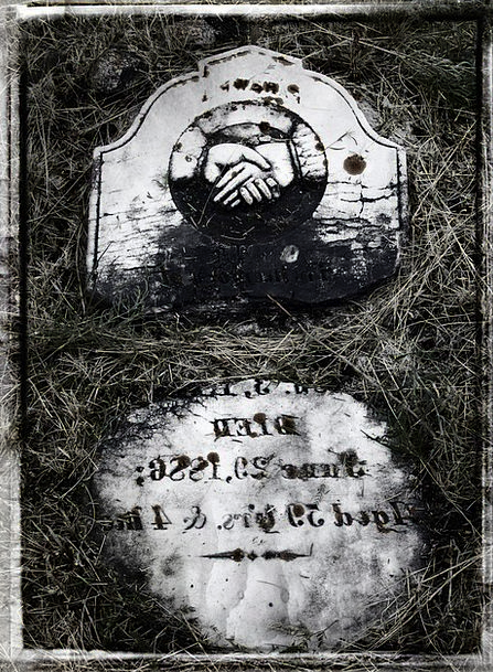 Tombstone Gravestone Black And White Cemetery Old