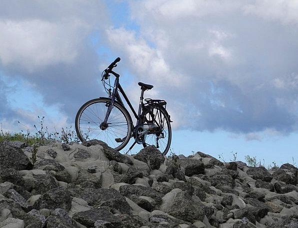 Bike Motorbike Sky Blue Bike Ride Clouds Vapors
