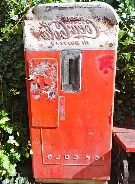 Coke Machine Old Ancient Coca Cola Antique Vending