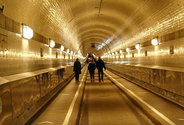 Tunnel Channel Age Stage Elbe Tunnel Light Bright