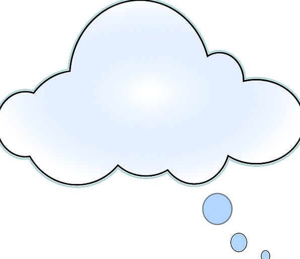Cloud Mist Rational Think Bubble Thinking Speech B