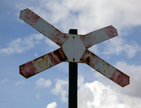 Railway Crossing Pullman The Passage Of Train Sign