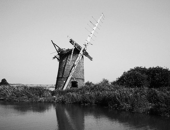 Windmill Buildings Architecture Old Ancient Englan